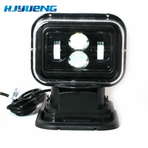 """Image 2 - For 4X4 Marine Camping Boat Headlight 12v 24v led searching light 7inch 7"""" 60W LED Remote Control Searchlight LED Spotlight"""