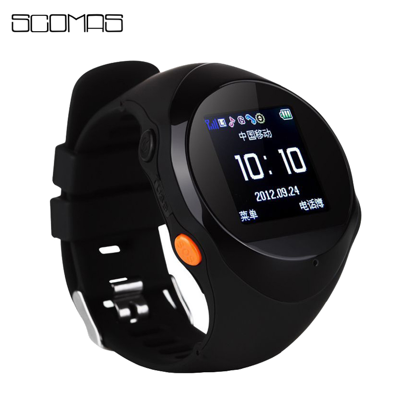 SCOMAS Children Smart Watch Band GPS Tracker Anti-lost with SIM Card Slot Kids Baby Smart Wristband Phone Watch for Android IOS ds18 waterproof smart baby watch gps tracker for kids 2016 wifi sos anti lost location finder smartwatch for ios android pk q50