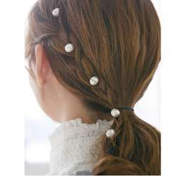 Заколка для волос с искусственным жемчугом и цветами для женщин и девочек, эластичный Железный зажим для волос, ББ заколки, милые
