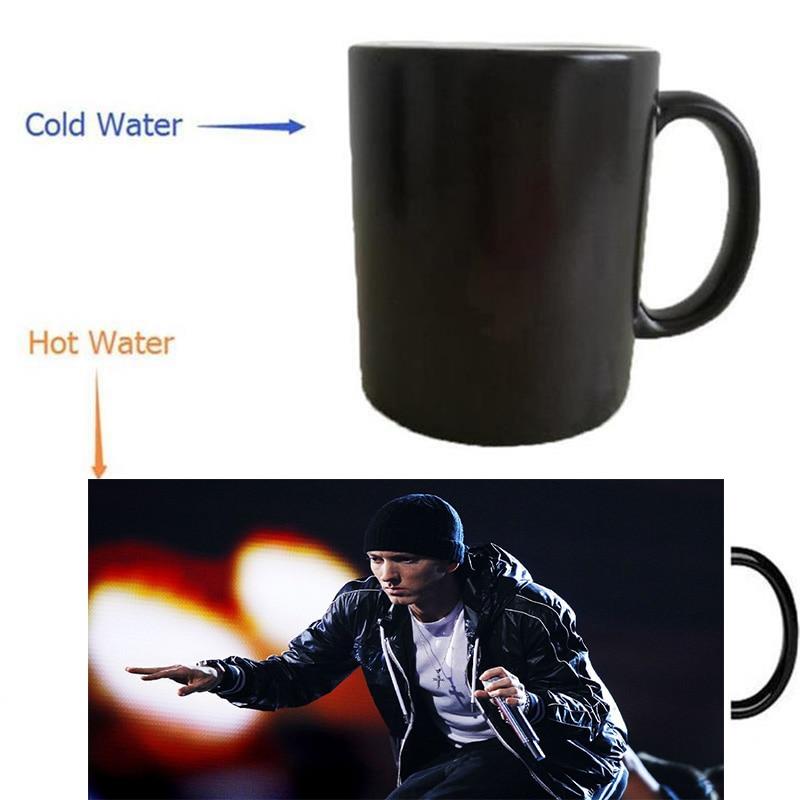 hip hop eminem mug heat reveal morphing coffee mugs heat changing color beer magic ceramic tea