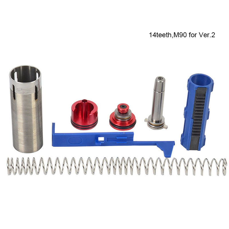 Tactifans Infinite Tune Up Torque Kit for M4 Series Airsoft AEG (Spring/Guide Cylinder Piston/ Head 14 Teeth Tappet Plate) цена