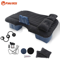 Universal SUV Car Travel Camping Inflatable Mattress Flocking Air Bed Back Seat Extended Air Couch With
