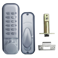 Mechanical Code Lock Digital Machinery Keypad Password Door Lock Stainless Steel Latch Zinc Alloy Silver L