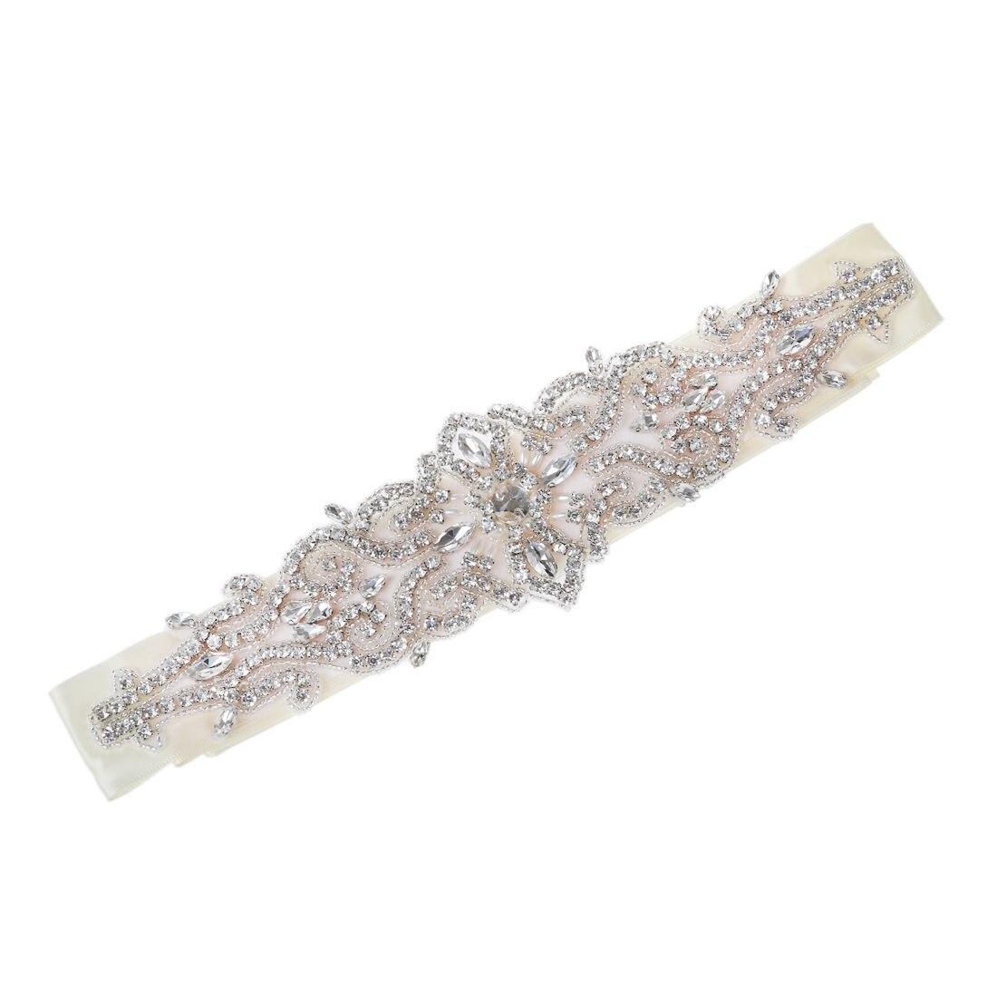 Vintage Handmade Crystal Rhinestones Wedding Dress Bridal Sash Belt