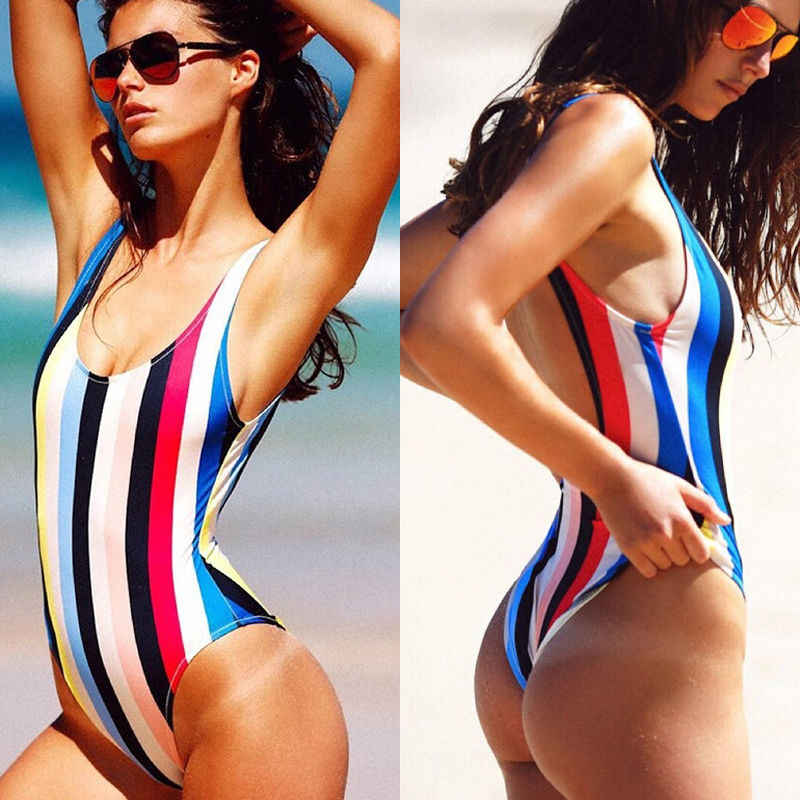Baru kedatangan Perempuan Mandi Monokini Bikini Swimsuit Beachwear One Piece Backless Swimwear olahraga sesuai untuk feamle