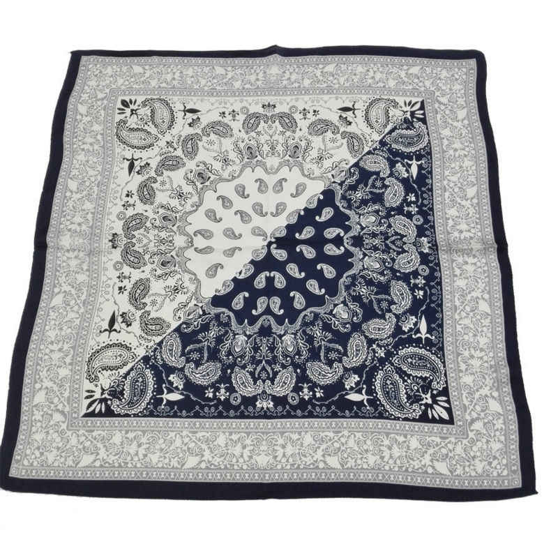 6e5899b23e Luxury Brand Fashion Women Small Square Blue and White Paisley Silk Chiffon  Scarves Silk Bandana As handbags' Accessories Scarf