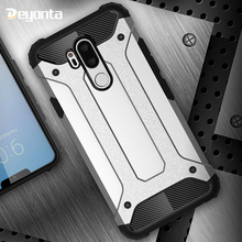 Hard PC Case For LG G6 G5 G7 Cases Rugged Armor Hybrid Anti-fall Phone Protective Cover For LG G8 Thinq V50 V40 Back Covers Bag for lg v50 thinq 5g cases cover carbon fiber brushed soft silicone tpu protective phone back cover for lg v50 thinq q7 v40 g7 g6