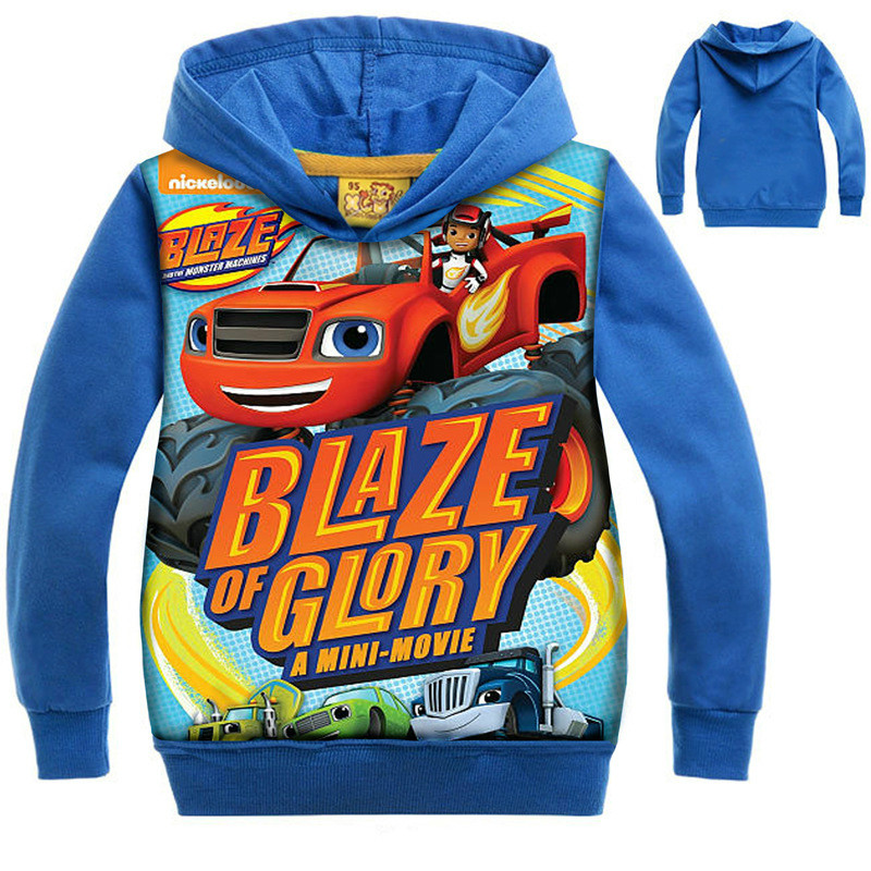 New Children Kids Girls Sweatshirt Boys Coat Monster Machine Kids Boys Long Sleeve T Shirts Blazing Speed Cars Cartoon Hoodies
