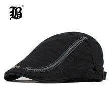 f5b7e1ebc0044  FLB  algodón boinas gorras para hombres Casual gorros carta bordado boinas  sombreros gorra de nuevo Otoño de viseras F506