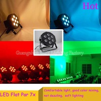 36pcs Lot Fast Delivery American DJ LED Flat Par Can Light 7x12W 4in1 LEDs With 4