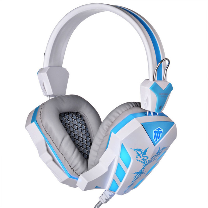 soyto sy855mv gaming headset gamer stereo headphones headband earphones with microphones led light wire control for pc desktop Cosonic Top Stereo Gaming Headphones Earphone with Microphone Game Headset with Breathing Led Light for PC Gamer CD-618