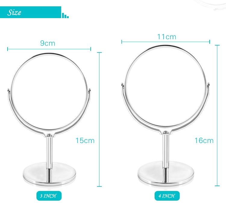 Jollity Mini Falten Make-up Spiegel Tragbare Silber Metall 2-gesicht Spiegel Doppel Seite 2x Vergrößerungs Funktion Glas Kosmetik Spiegel Haut Pflege Werkzeuge Schminkspiegel