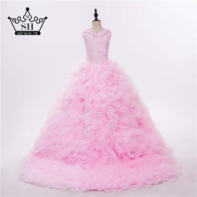 Online Shop Pink Cloud Flower Girl Dresses Cloud Baby Cloudy Puffy Ball Gown  Flower Girl Dress Plus Size Custom Made 2019  893dfa975365