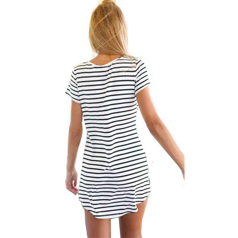 2019 Sommer Strand Frauen kausale A-Linie modale Kleider Mädchen - Damenbekleidung - Foto 3
