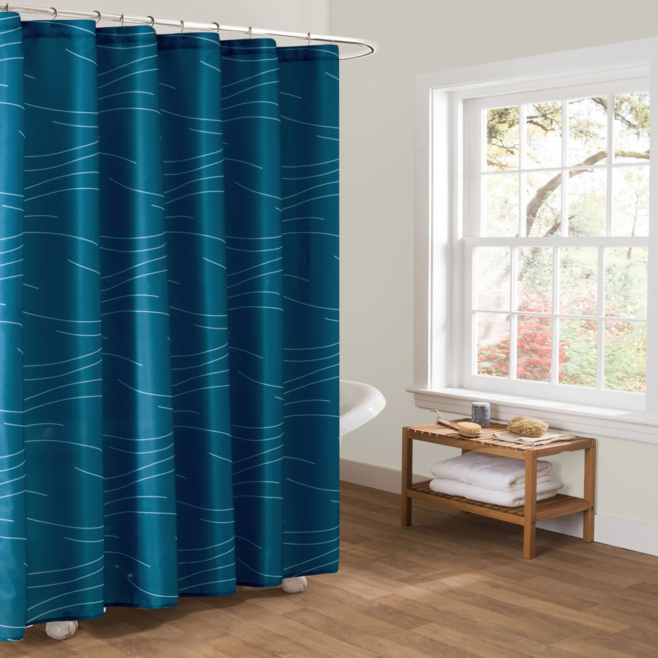 KindoBest Turquoise/Blue Green Shower Curtains for Bathroom ...