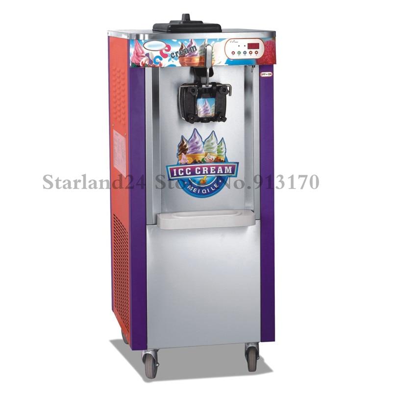 Affichage de LED d'équipement de fabrication de crème glacée molle de Machine de crème glacée verticale de saveur simple 220 V avec des roues