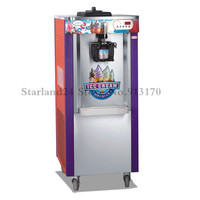 Single Flavor Upright Ice Cream Machine Soft Ice Cream Making Equipment LED Display 220V with Wheels