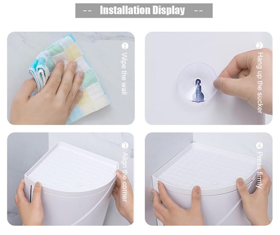 Large Capacity Bathroom Rotating Shelving