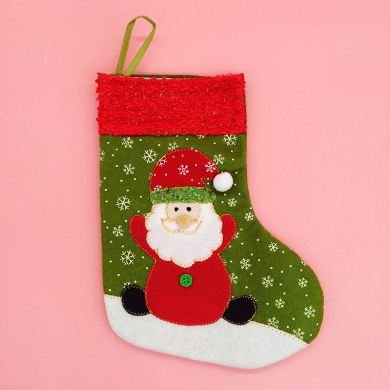 12 pieceslotbig size christmas stockings socks santa claussnowman candy gift bag xmas tree decor festival party ornament in stockings gift holders - Big Stockings For Christmas