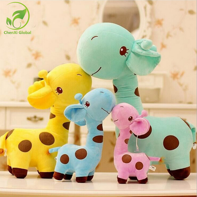 18cm 1PC Cute Plush Giraffe Toys Soft Colorful Animal Dear Doll Kawaii Spot Toy for Baby Kids Children Girls Birthday Gift 4 colors pusheen plush cute soft animal toy giraffe plush doll birthday gift toys for children 18cm baby dolls free shipping