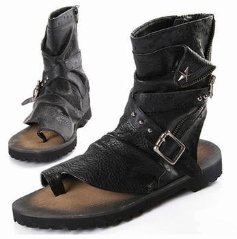 Luksusowy włoski kostki buty gumowe mieszkania hurtownie męskie pantofle moda lato marka Sandały gladiatorki męska 2017 klapki japonki tanie i dobre opinie KAEVE Mikrofibra Stałe WBXB-06 RUBBER Na co dzień Dla dorosłych Punk Niska (1 cm-3 cm) Pasuje prawda na wymiar weź swój normalny rozmiar