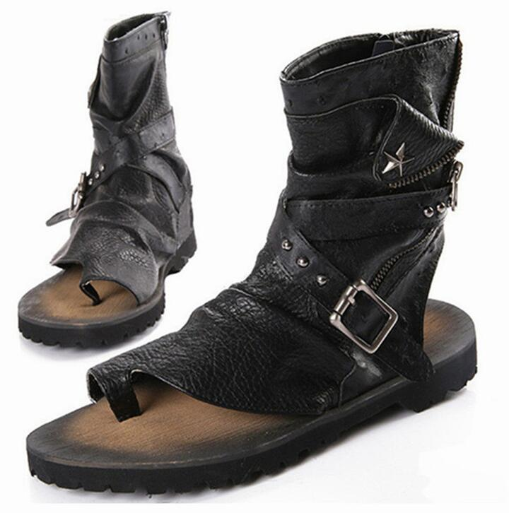 Luxury Italian Ankle Boots Rubber Flats Wholesale Mens Slippers Fashion Summer Brand Gladiator Sandals MenS 2017 Flip Flops