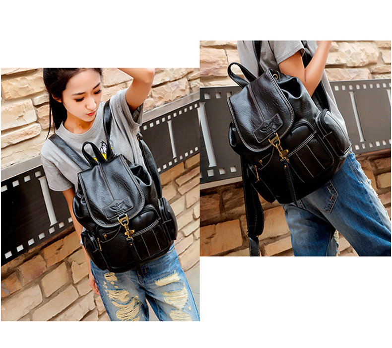 HTB1Vr5Hbh rK1RkHFqDq6yJAFXa8 Vintage Women Backpack for Teenage Girls School Bags Large Drawstring Backpacks High Quality PU Leather Black Brown Bag XA658H