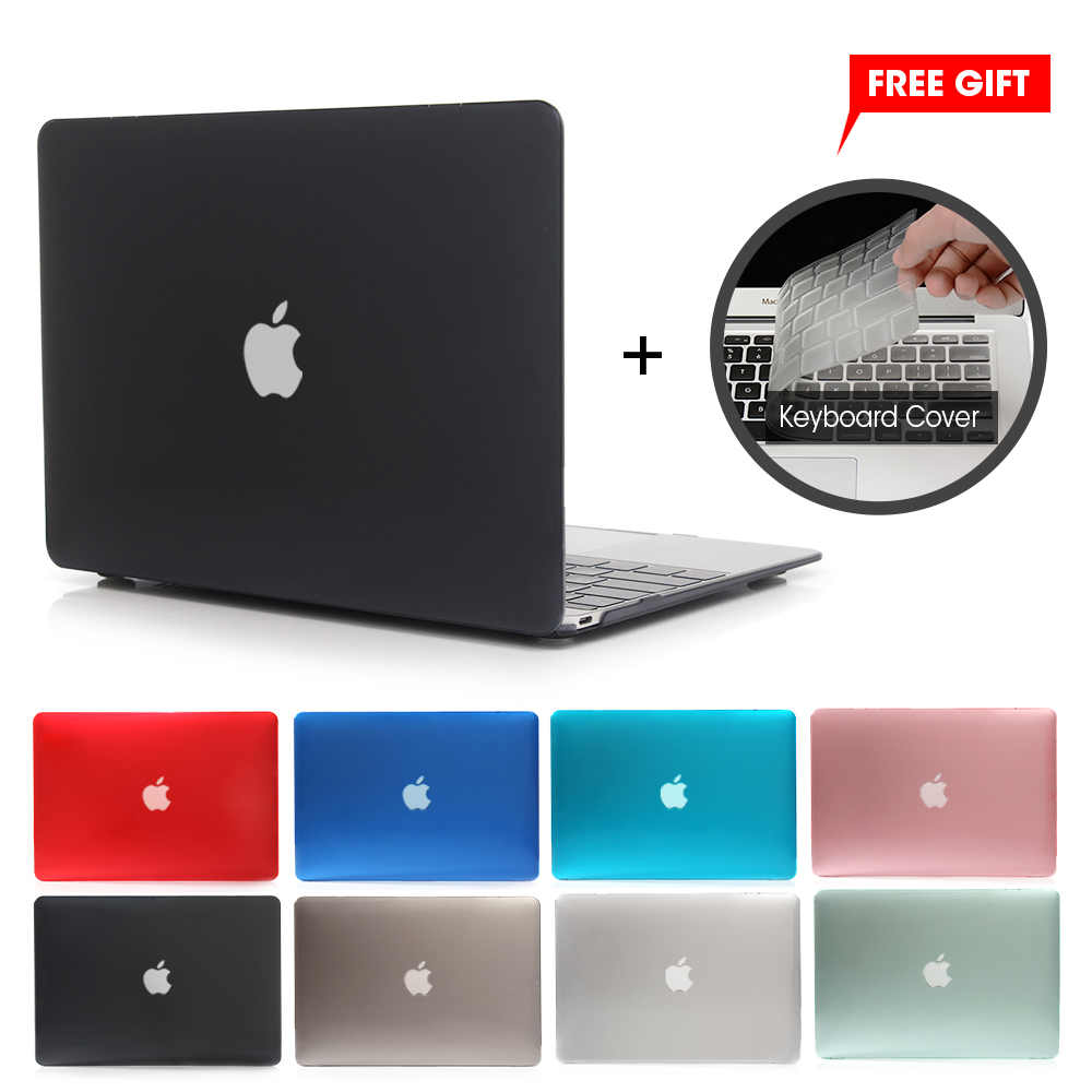 La nueva barra de cristal caso para Apple Macbook Air Pro Retina, 11 12 13 15 portátil bolso de la cubierta para Mac 13,3 pulgadas + regalo cubierta de teclado