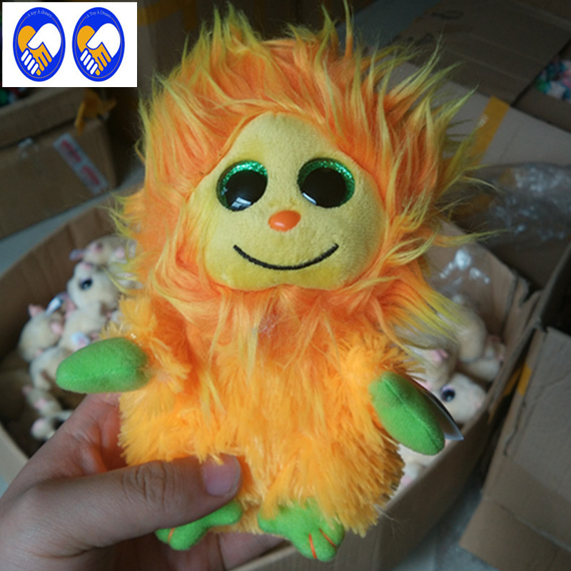A Toy A Dream Ty Beanie Boos Golden lion 6inch Big Eyes Beanie Baby Plush Stuffed Doll Toy Collectible Soft Plush Toys Kids Gift