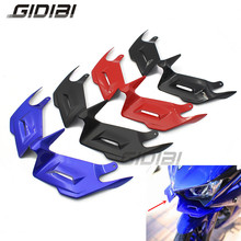 For YAMAHA YZF-R3 YZF-R25 YZF R3 R25 Motorcycle Front Fairing Aerodynamic Winglets ABS Plastic Cover Protection Guards