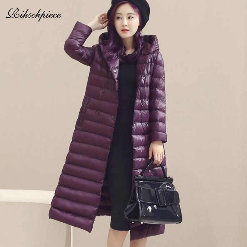 c060799f969 Rihschpiece 2018 весна ультра легкий утка вниз куртка для женщин  Большие  размеры 3XL пальто с