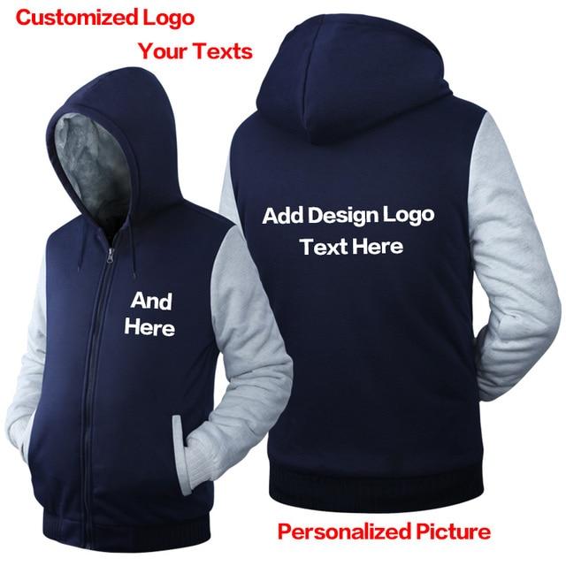 26970ef500 Alta Calidad Sudadera Con Capucha de encargo LOGO llanura Sudadera DIY  personalizado patrón de diseño de. Sitúa el cursor encima para ...