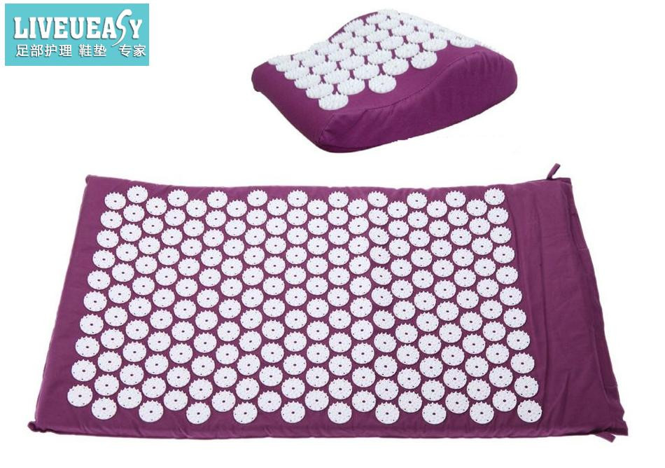 Acupressure Massage Cushion Pillow Spike Mat Head Massager Stress Pain Relief Acupuncture Massage Mat for Back Foot Body Relax hot acupressure spike yoga pillow mat relieve stress pain relief acupuncture cushion neck back shakti massager body relax