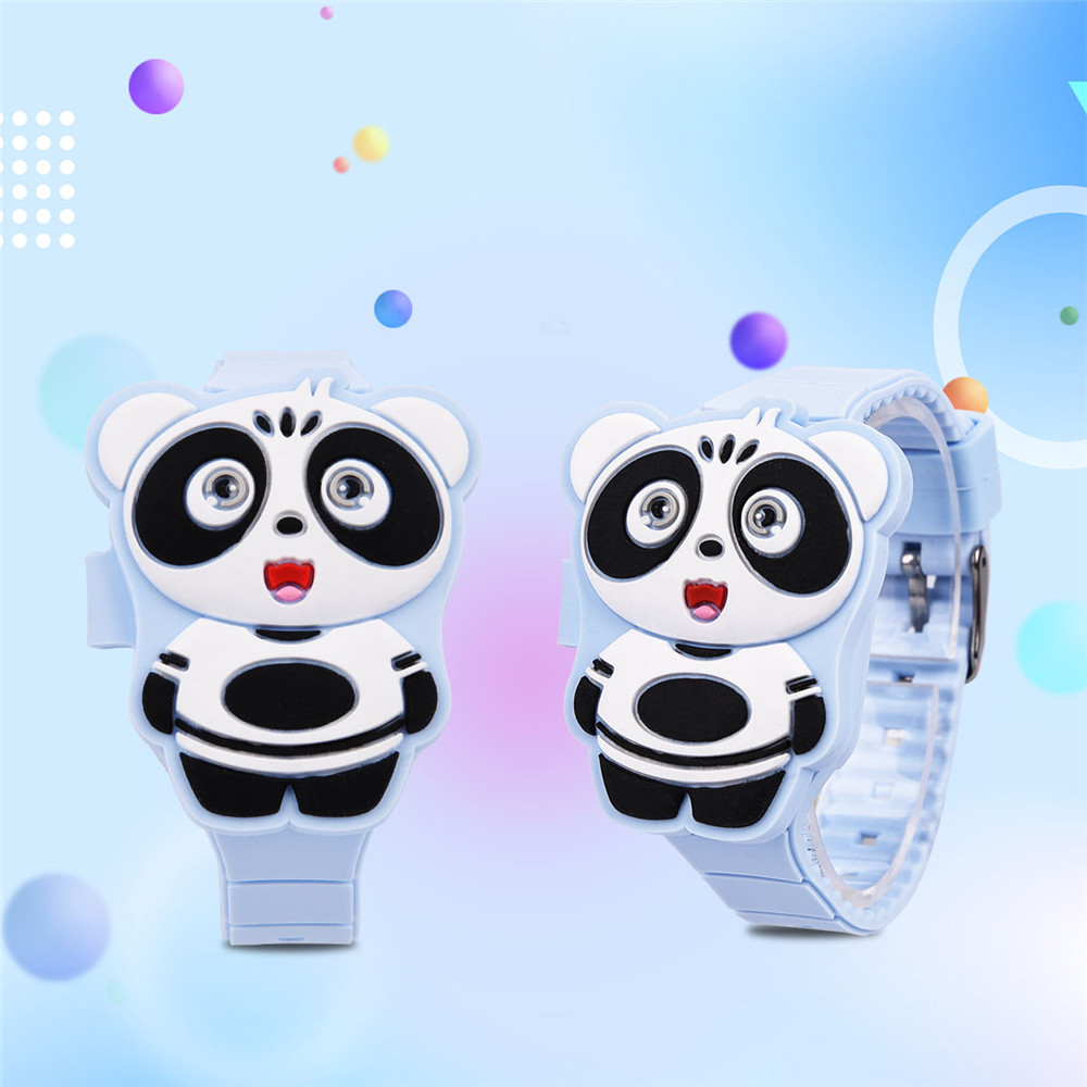 Cute 3D Cartoon Animal Kids Watch children's watches for girls & boys Silicone LED Digital Display Electronic Flip Wristwatch <font><b>30</b></font> image