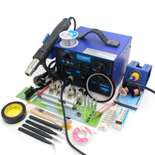 Brand new 60w solder iron 700w Hot Air gun Welding Tool Kit soldering station with solder tin tweezers solder sucker