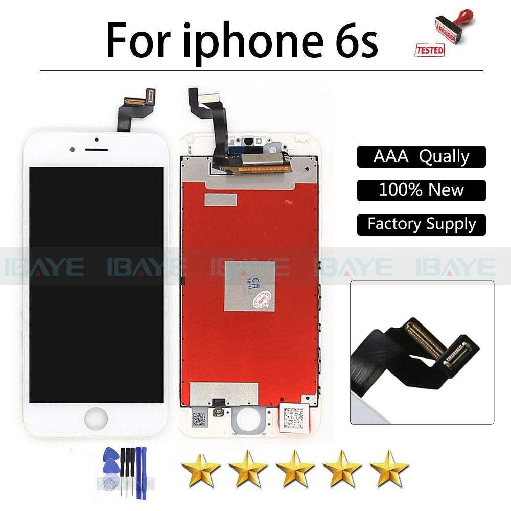 Prix pour Plein Testé AAA Qualité Pour Apple iPhone 6 S LCD Écran pour iphone6s Affichage lcd Tactile Digitizer Blanc Assemblée No Morts Pixel