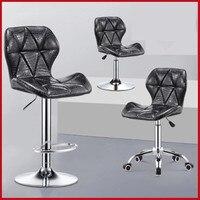 15%,U Modern Breakfast Chair Adjustable Bar Stool Swivel Chair Bar Chair Commercial Furniture Bar Tool free shipping in Russia