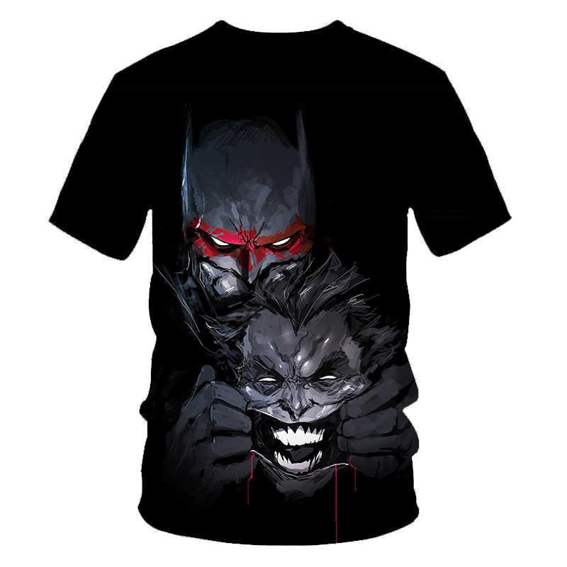 Новинка 2019, Футболка Джокер, Забавный персонаж комиксов, классный Бэтмен и Джокер, подходит для покера, 3d футболка, мужская летняя стильная одежда, футболки, Топ