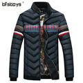 Men's Stand Collar Coat splicing design down cotton padded jacket men M~4XL,2016 New Arrival Men Winter Jackets
