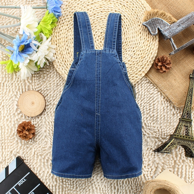 1 2 3 4T Baby Clothing Boys Girls Jeans Overalls Shorts Toddler Kids Denim Rompers Cute Cartoon Bebe Pants Summer Bib Clothes 1