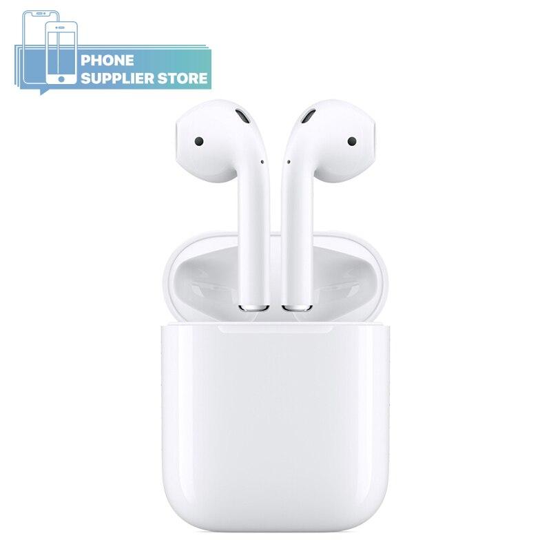 Écouteurs d'origine Apple AirPods 2nd génération, avec étui de charge, utilisé, écouteurs Bluetooth sans fil pour iPhone iPad MacBook