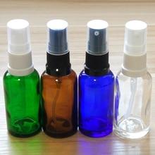 Купить с кэшбэком 30ml Blue/Amber/Green/Clear Glass bottles with Plastic mist sprayer or lotion pump!if you order over 200pcs, price 20%off !