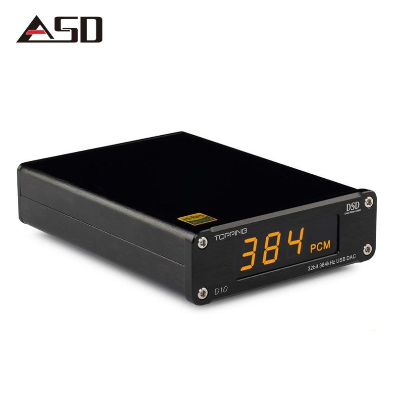 ASD Richt D10 ES9018K2M PCM384 & DSD256 USB DAC XMOS XU208 OPA2134 Line out Optische und Koaxiale ausgang