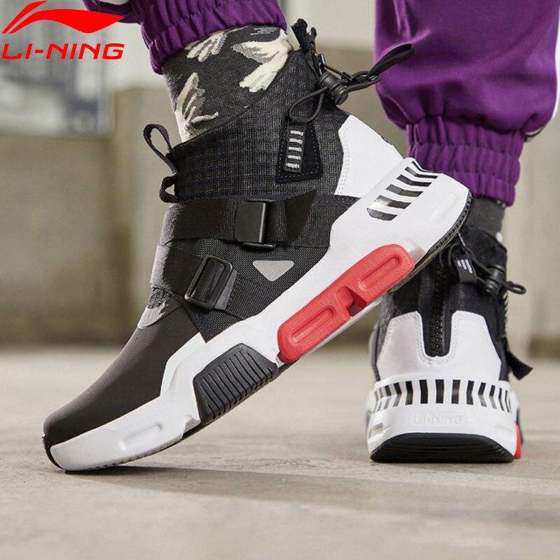 Li-ning hommes survit K style de vie chaussures portable Anti-glissant doublure élégant loisirs Sport chaussures confort baskets AGLP037 YXB271