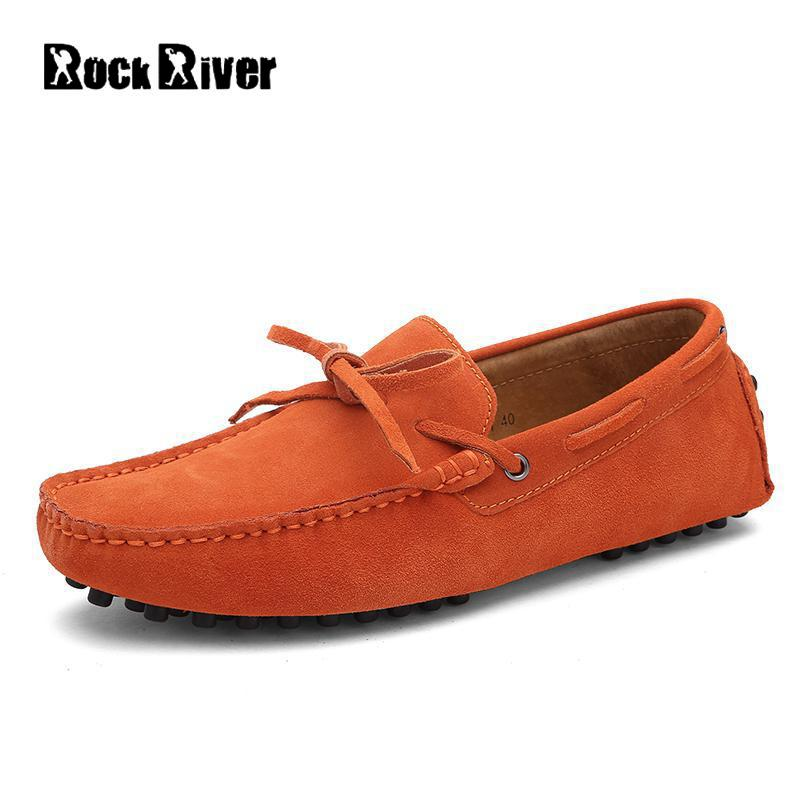 2017 Nubuck Leather Men Shoes Spring Summer Flat Men Casual Shoes Slip On Genuine Leather Cow Suede Soft Moccasins Loafers Men dekabr new 2018 men cow suede loafers spring autumn genuine leather driving moccasins slip on men casual shoes big size 38 46