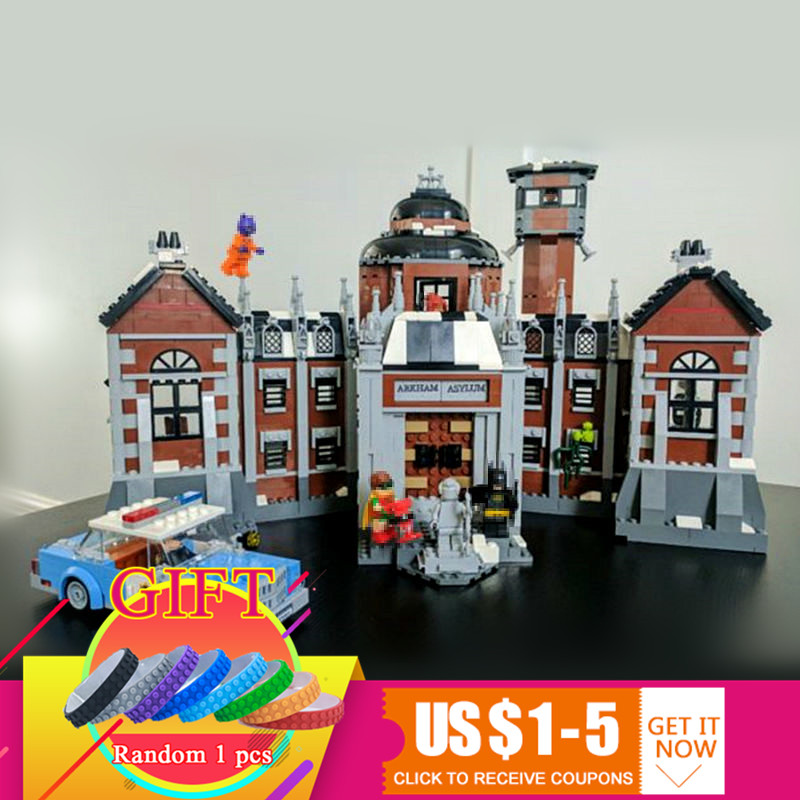 07055 1628Pcs The Arkham`s Lunatic Asylum Batman Movie Series set compatible with 70912 Building Blocks Toys dhl 1628pcs lepin 07055 genuine series batman movie arkham asylum building blocks bricks toys with 70912 gift