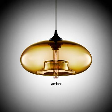 Nordic Modern Hanging Lamp Body Color: amber Ships From: Russian Federation