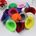 "13cm Diameter 5"" Plain Mini Top Hat DIY Small Top Felt Hat With Clips 50pcs/lot Free Shipping MFF13-00F"