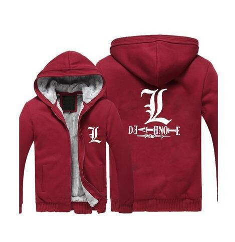 Death Note Luminous Jacket Sweatshirts Thicken Hoodie
