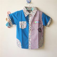 Retail Children's Clothing Dot Pattern Boy's Shirt Baby Boys' Summer Tops LKC158(China)
